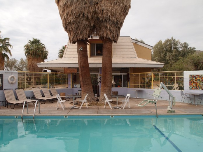 The pool at the 29 Palms Inn