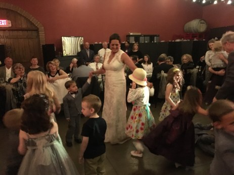 Rosie dances with her grandchildren