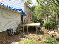 beginning of screen porch