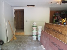 drywall goes in