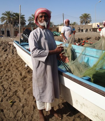 Fisherman in Al Musanaah, Oman