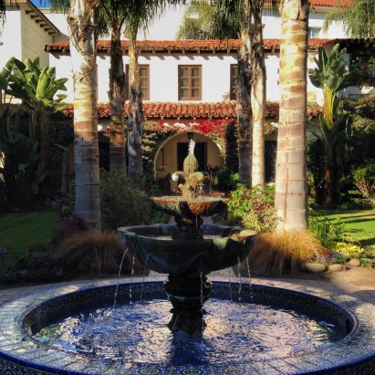 fountain at Mission Buenaventura