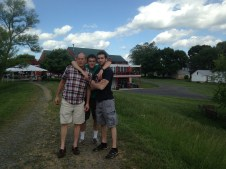 Mike, Adam and Alex at Doukenie Winery