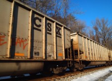 Chasing freight trains on the CSX main line