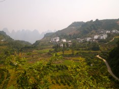 Yangshuo countryside from a motorbike