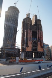 new construction in Abu Dhabi, in front of Emirates Palace