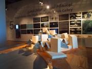 the model of the Guggenheim Abu Dhabi, designed by Frank Gehry, to be built on Saadiyat Island, Abu Dhabi