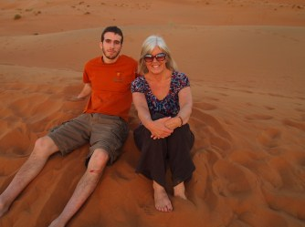 Alex and me at Camp Al Areesh