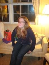 at her Nana's house at Christmas