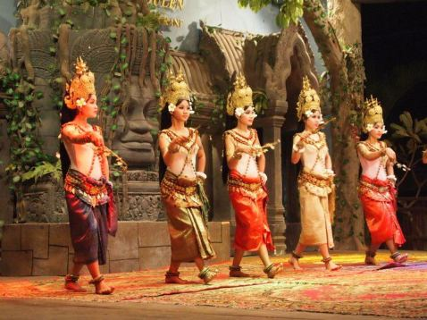 Apsara dancers in Siem Reap, Cambodia