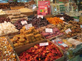 a market in Istanbul, Turkey