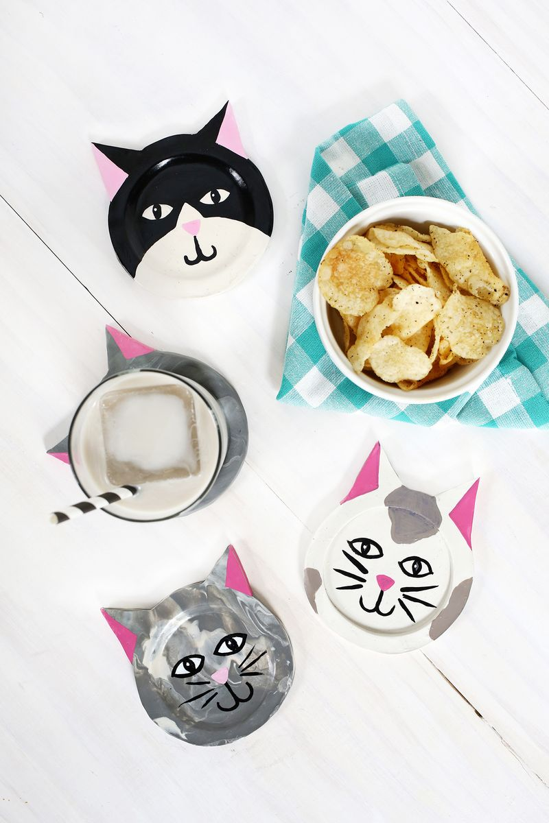 diy cat coasters
