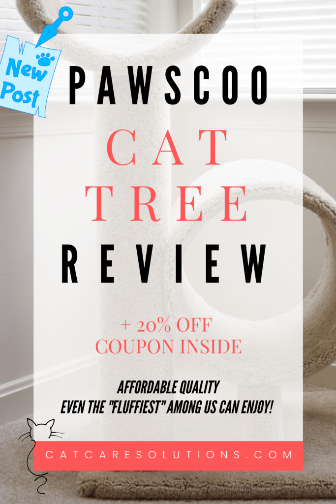 Pawscoo cat tree review + 20% off coupon