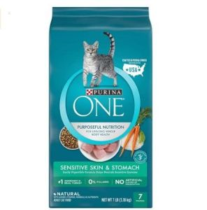 The purina one sensitive systems dry cat food