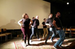 Totally choreographed dancing. See the difference?