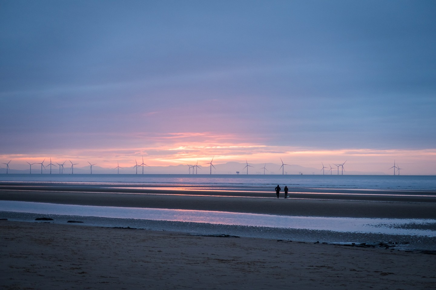 formby beach sunset