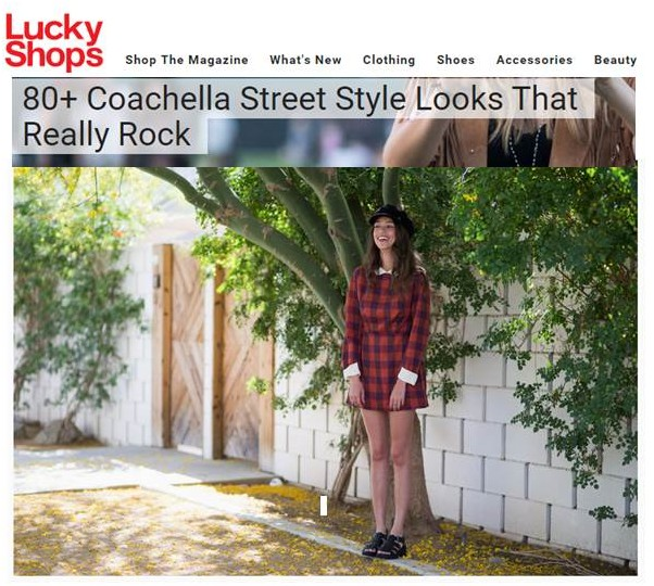 lucky mag, thania peck, Catcher in the style