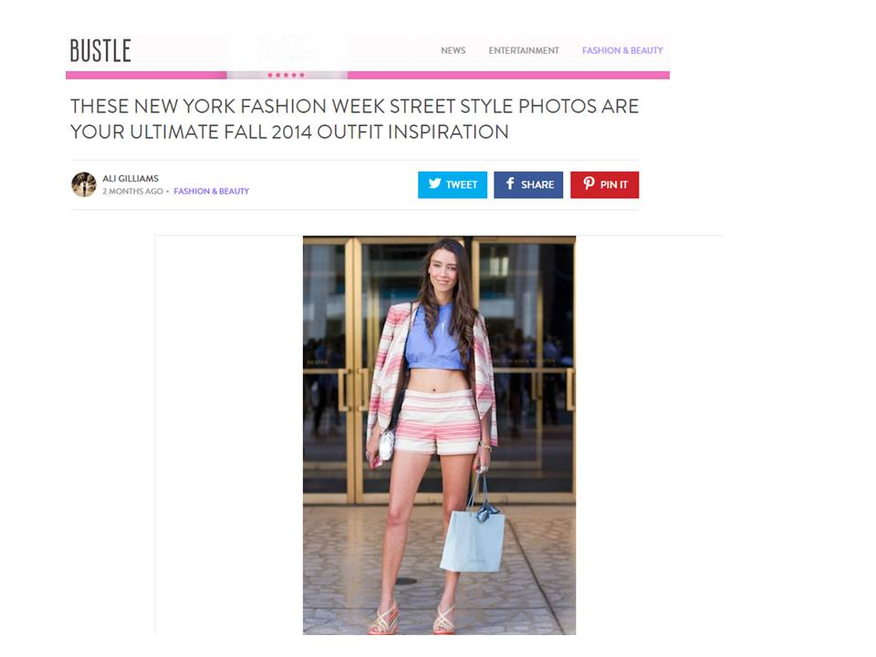 Bustle Thania Peck New York Fashion Week