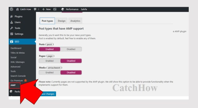 amp activate setup wordpress