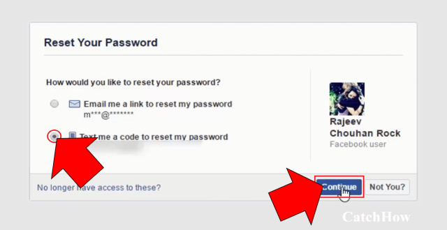 facebook password reset method