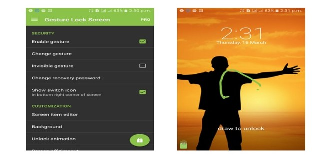 gesture android app