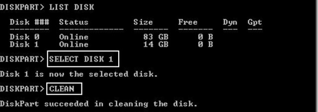 select disk 1