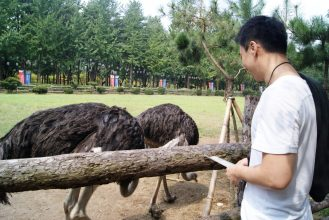Ostrich and my friend John