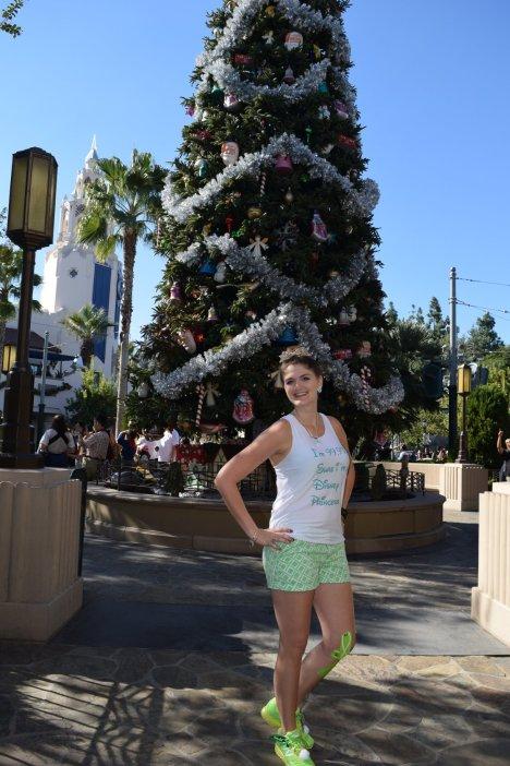 California Adventure christmas tree