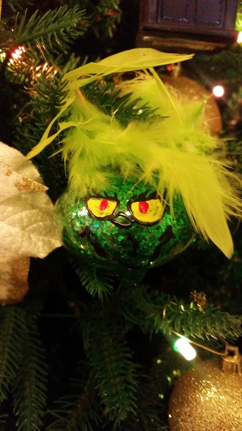 grinch ornament front