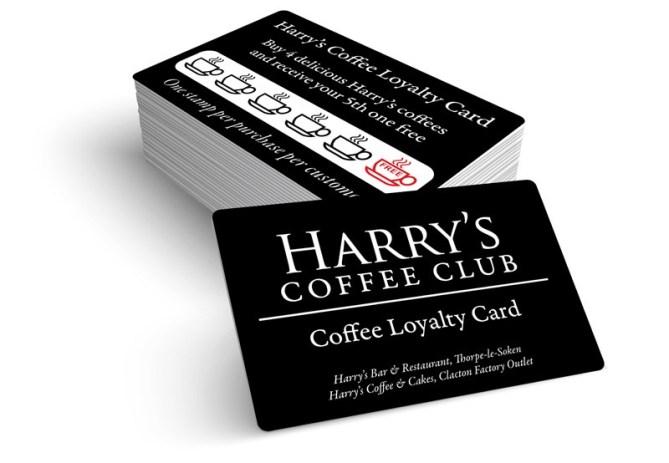 Harrys Coffee Loyalty Card