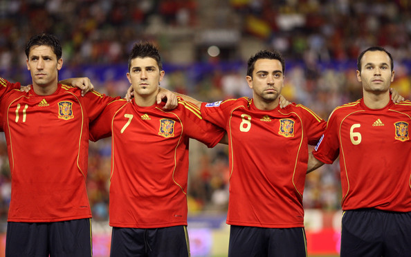 David Villa might we join Iniesta and Xavi at the Nou Camp. Capdevila (l) will probably not...