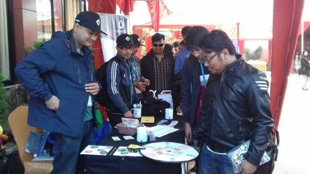 """""""Spin & Win"""" at Catch Internet Stall."""