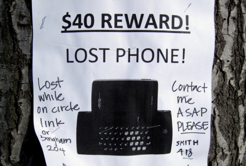 Lost Cell Phone