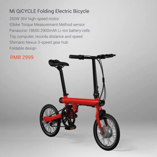 Mi Qicycle Specs