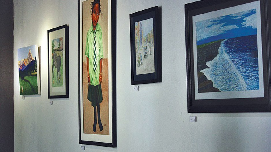 Art exhibition at Park Gallery. Image Source: The Himalayan Times