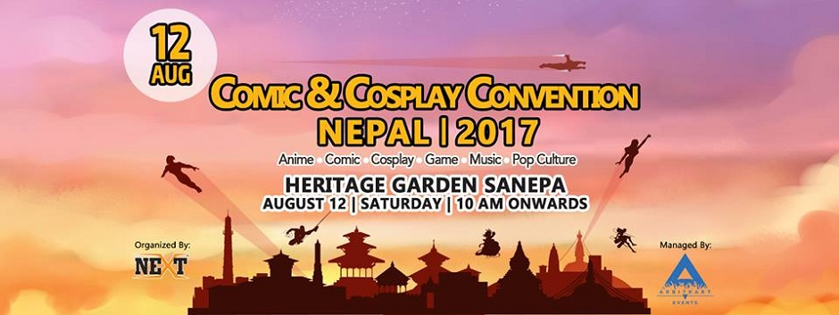 Comic and cosplay convention Nepal 2017 banner
