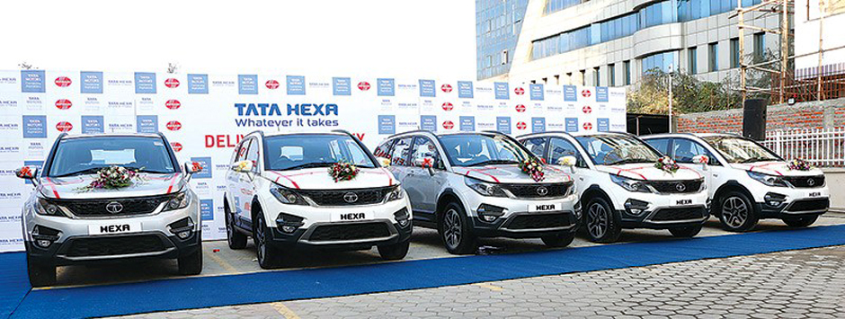 Tata Launched Its Latest SUV –The Hexa in Nepal. Image Source: The Kathmandu Post