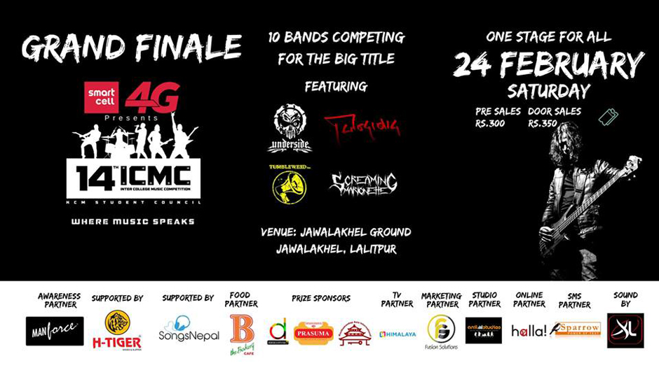 14th KCM Inter-College Music Competition | Platform to Bring-out Country's Passionate and Emerging Bands. Image Source: Facebook