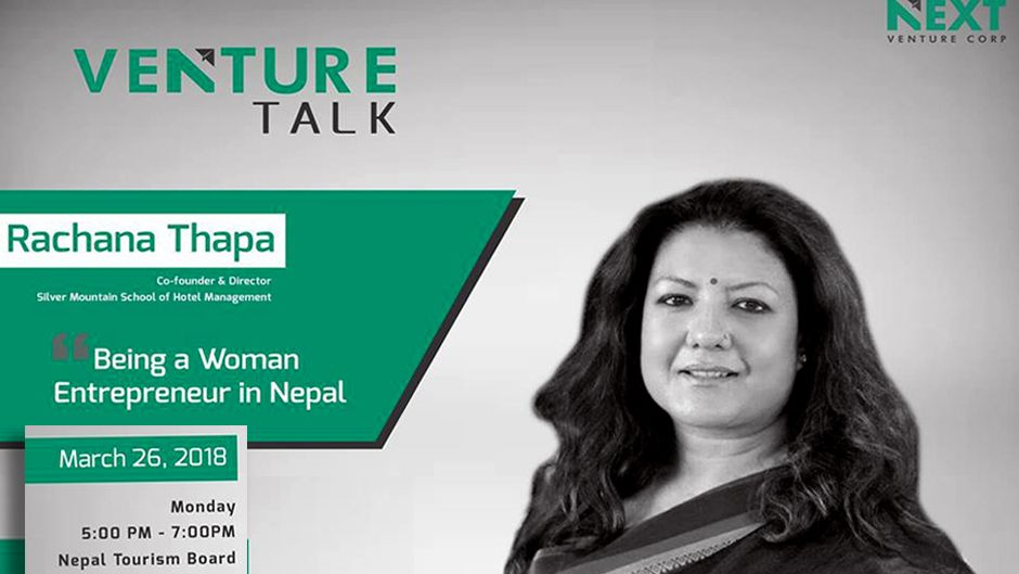 Venture Talk with Ms. Rachana Thapa NEXT Venture Corp. Image Source: Facebook