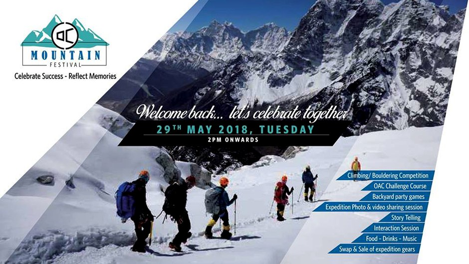 OAC Mountain Festival 2018 to kick off on 29th of May. Image Source: Facebook