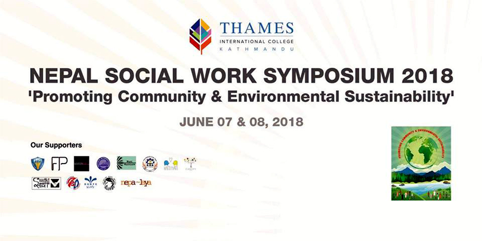 Nepal Social Work Symposium 2018 | Promoting Community & Environmental Sustainability. Image Source: Facebook