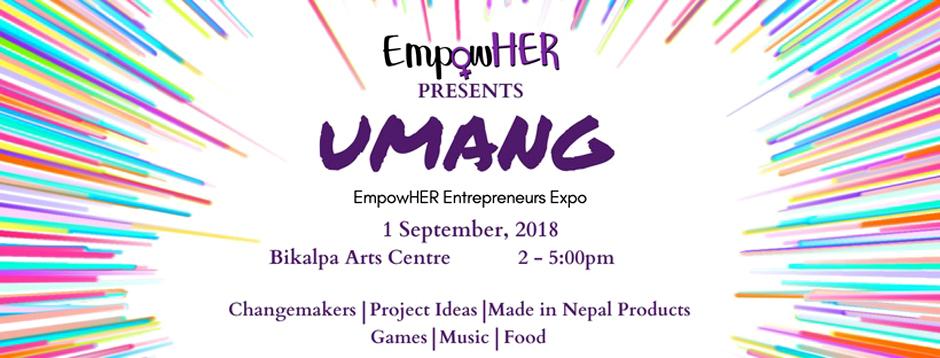 Umang – EmpowHER Entrepreneurs Expo 2018. Image Credit: Facebook