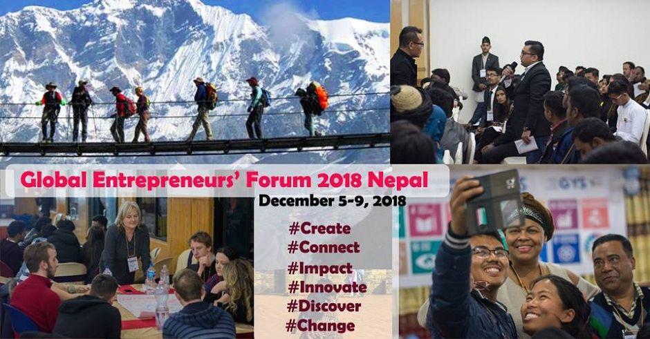 Global Entrepreneurs' Forum 2018 Nepal. Image Source: Facebook