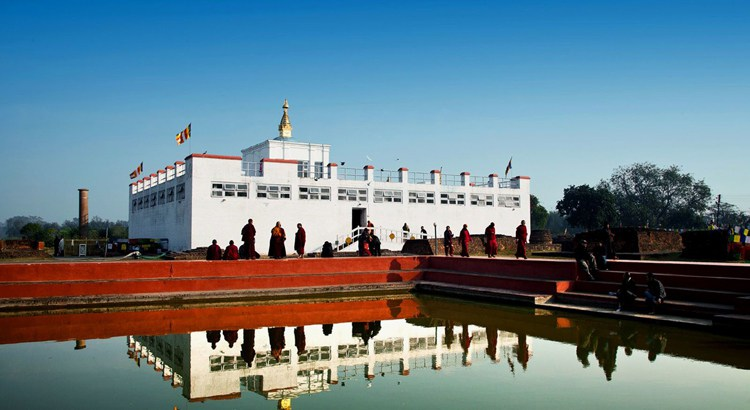 Lumbini. Image Source: Nature