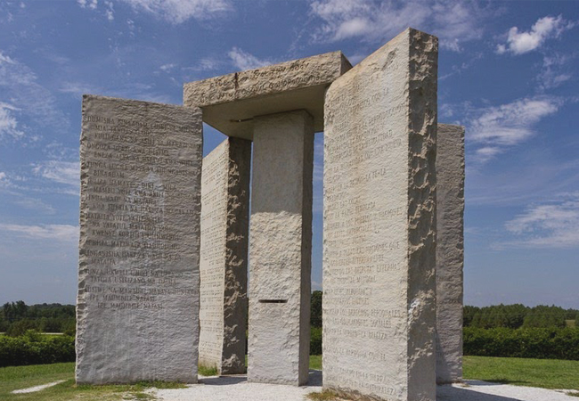 The Georgia Guidestones. Image Source: Google