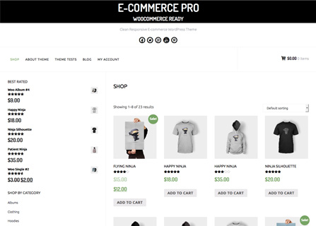 E-Commerce Pro WordPress Theme