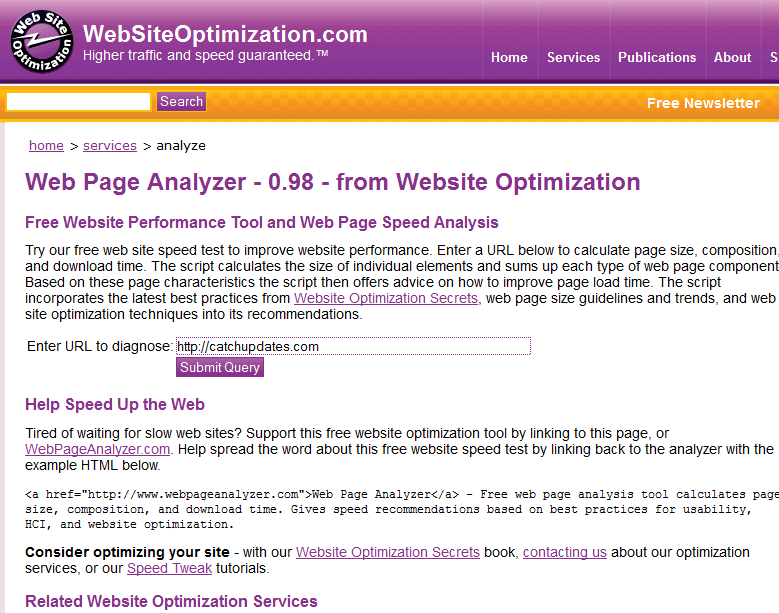 Tools To Check Website Speed - Web Page Analyzer
