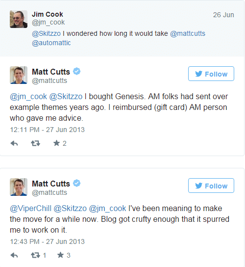 Matt Cutts purchase genesis framework
