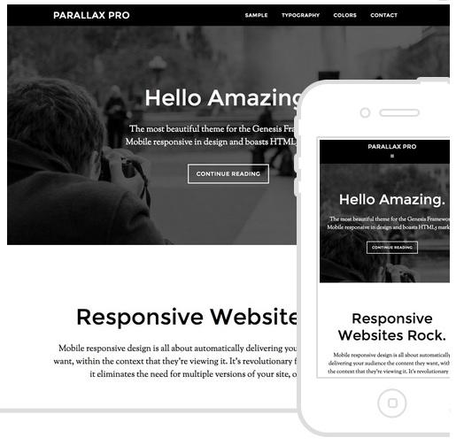 Parallax Pro Theme - Best Genesis Child Themes