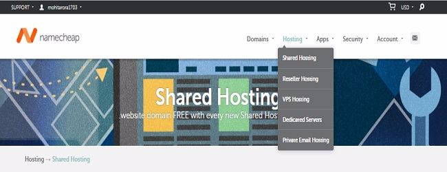 NameCheap Coupon - Hosting Plans